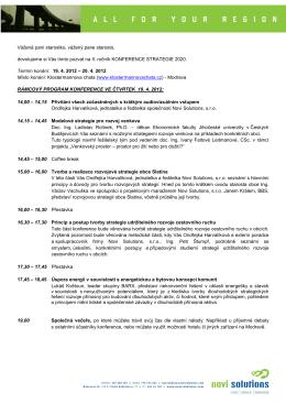 Program – Setkání starostů 2012