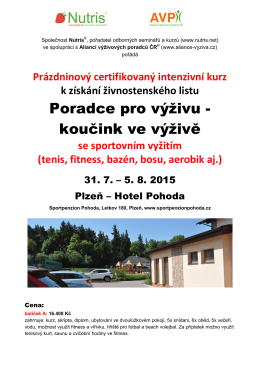 Nutris-kurz Plzeň 7-15
