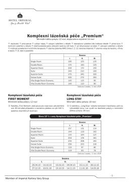 ceník zdravotnických výkonů a procedur