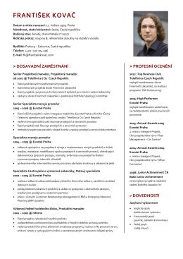 cz pdf cv - František Kovač