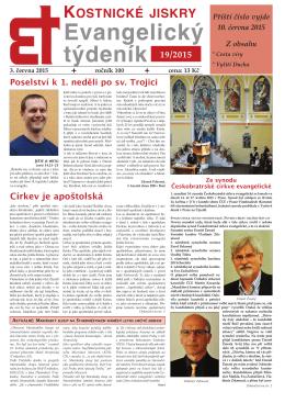 Ze synodu českobratrské církve evangelické