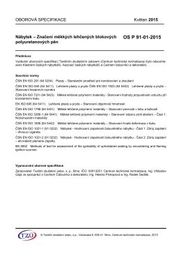 OS P 91-01-2015 - Textilní zkušební ústav