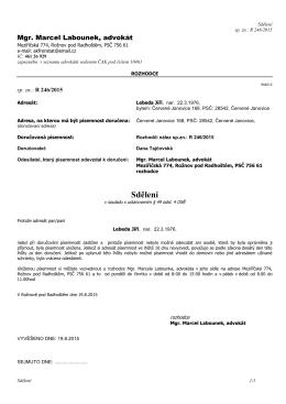 2015-08-19 Sdělení J.Lebeda 49-4 OSŘ R 246-2015