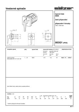 B6. Typová řada S825