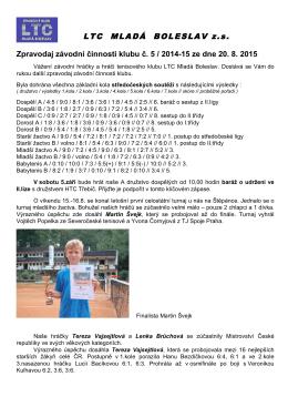 zpravodaj 2015-5 - Tenisový klub LTC Mladá Boleslav