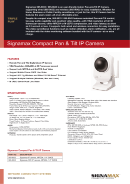 Signamax Compact Pan & Tilt IP Camera
