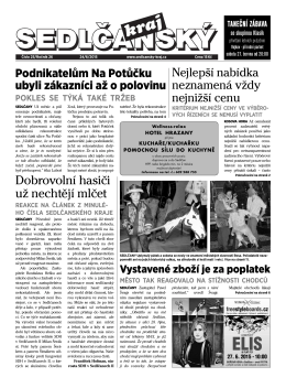Sedlčanský kraj 25/2015