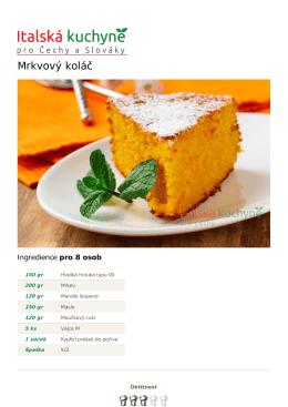 Mrkvový koláč - Italská kuchyně - Úvod