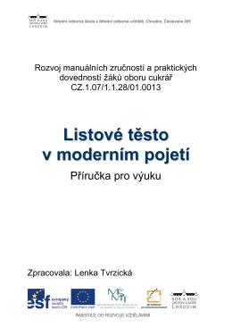 Listové těsto v moderním pojetí 3