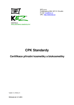 CPK Standardy