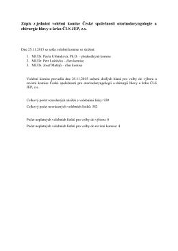 Zápis jednání volební komise