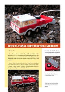 Tatra 813 bowden - katalogKamionu.cz