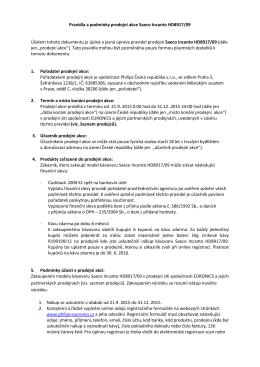 Pravidla a podmínky prodejní akce Saeco Incanto HD8917/09