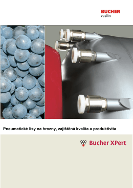 Pneumatické lisy na hrozny, zajištěná kvalita a produktivita