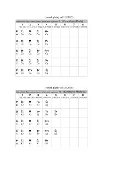 Bakaláři - Rozvrh hodin
