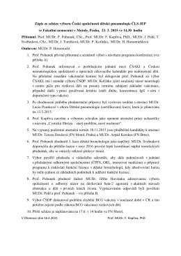 Zápis ze schůze 23. 3. 2015