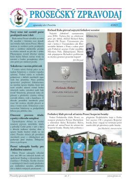 Prosečský zpravodaj 8/2015