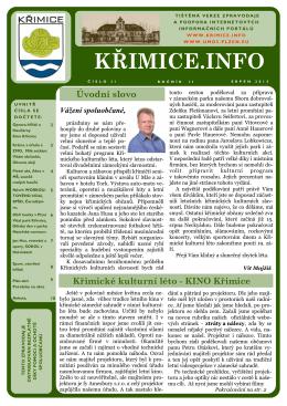 KŘIMICE.INFO - Městský obvod Plzeň 5