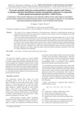 Porovnání výsledků získaných semikvantitativní metodou