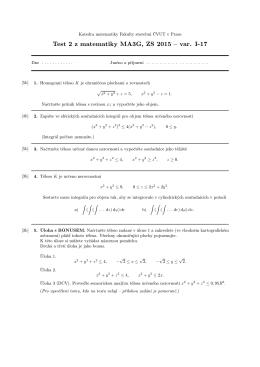 Zadání 2. písemky