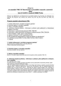 Zápis z jednání TNK 147 - prosinec 2015