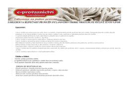 Návod a použití lanových výrobků