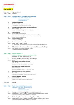 Lékařská sekce Čtvrtek 10. 9.