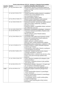 Návrhy témat disertací 2015/16 - účetnictví a finanční řízení podniku