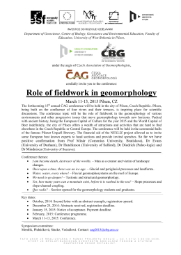 Role of fieldwork in geomorphology