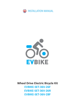 Wheel Drive Electric Bicycle Kit EVBIKE-SET-36V-26F
