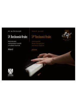 54thBeethoven`s Hradec %HHWKRYHQĖY +UDGHF