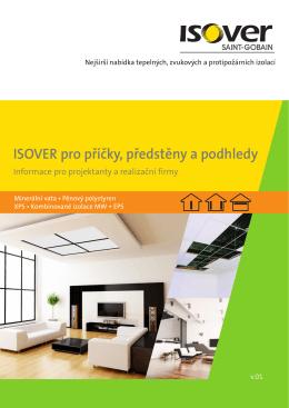 ISOVER pro příčky, předstěny a podhledy