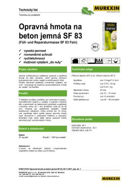 Opravná hmota na beton jemná SF 83 (Füll- und