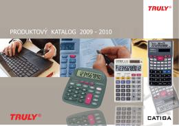 PRODUKTOVÝ KATALOG 2009 - 2010