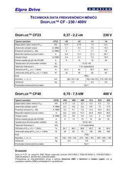CF Data CZE r2 - Elpro Drive, s. r. o.