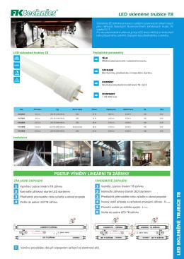LED skleněné trubice T8