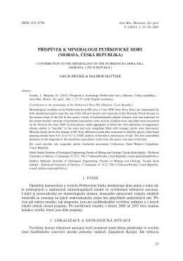 příspěvek k mineralogii petřkovické hory (morava, česká republika)