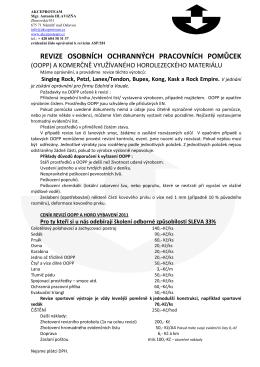 revize osobních ochranných pracovních pomůcek