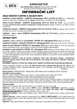Info 1. běh 2015