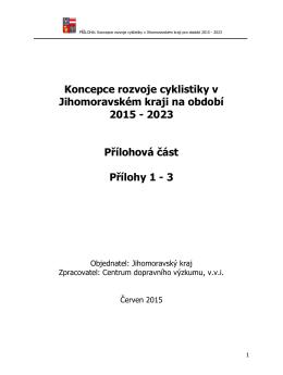 Koncepce rozvoje cyklistiky v Jihomoravském kraji na období 2015