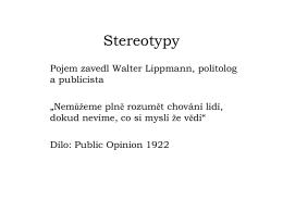 Lippmann-stereotypy