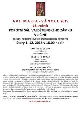 Pozvánka na předvánoční koncert