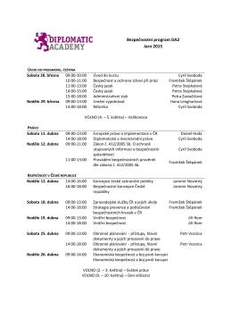 Bezpečnostní program DA2 Jaro 2015
