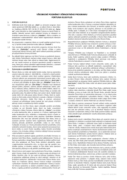 Změna podmínek FKP Od 16.2.2015 dojde ke změně