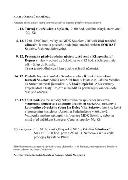 Občanské sdružení Klub důchodců Slaměnka Sokolov