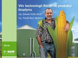 150 Jahre Vliv technologií BASF na produkci bioplynu