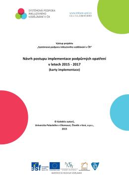 Návrh postupu implementace podpůrných opatření v letech 2015