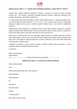 2015/16 - Obchodní Akademie Lysá nad Labem