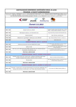 Čtvrtek 5.11.2015 - adiktologická konference jihočeského kraje