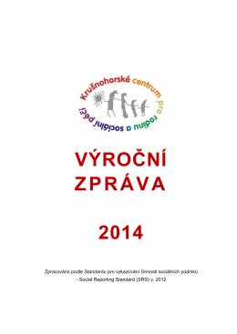 Výroční zpráva 2014 - Krušnohorské centrum pro rodinu a sociální